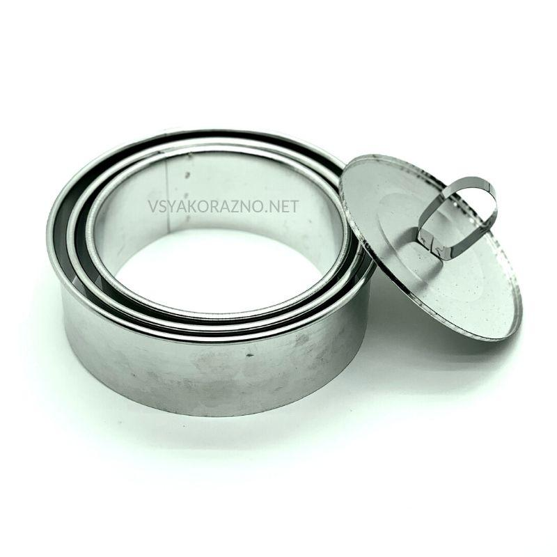Кольцо для салата и гарнира с крышкой (набор из 3 шт. диаметр 10, 12, 14 см)