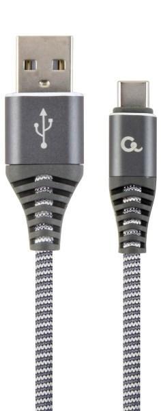 Кабель Cablexpert USB2.0 - USB Type C (CC-USB2B-AMCM-2M-WB2) A-папа/C-папа, преміум 2м Grey (код 110593)