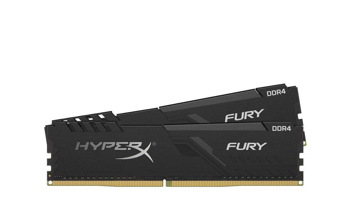 Пам'ять DDR4 RAM 16GB Kingston 3466MHz PC4-27700 (Kit of 2x8GB) HyperX Fury Black  (код 108939)