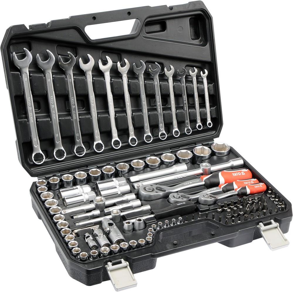 """Набір інструментів YATO 1/4""""-1/2-3/8"""" 111 предметів (YT-38831)"""
