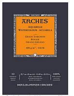 Альбом для акварели 300г 100% хлопок Torchon Arches 12л 29,7х42см, CANSON