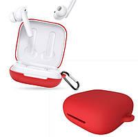 Чехол для наушников Oppo Enco W51 (ETI21) | красный | с карабином