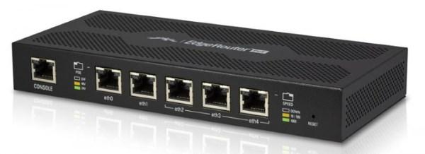 Маршрутизатор Ubiquiti EdgeRouter PoE (ERpoe-5), 5xGLAN,PoE 5*out, MaxPower 60W, CPU (2-cores) 500 MHz per