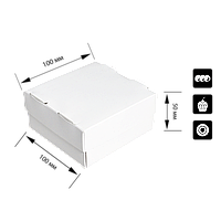 """Коробка для суші 1 рол """"СУ 0400"""" Біла, 100*100*50мм, (уп/25шт), фото 1"""