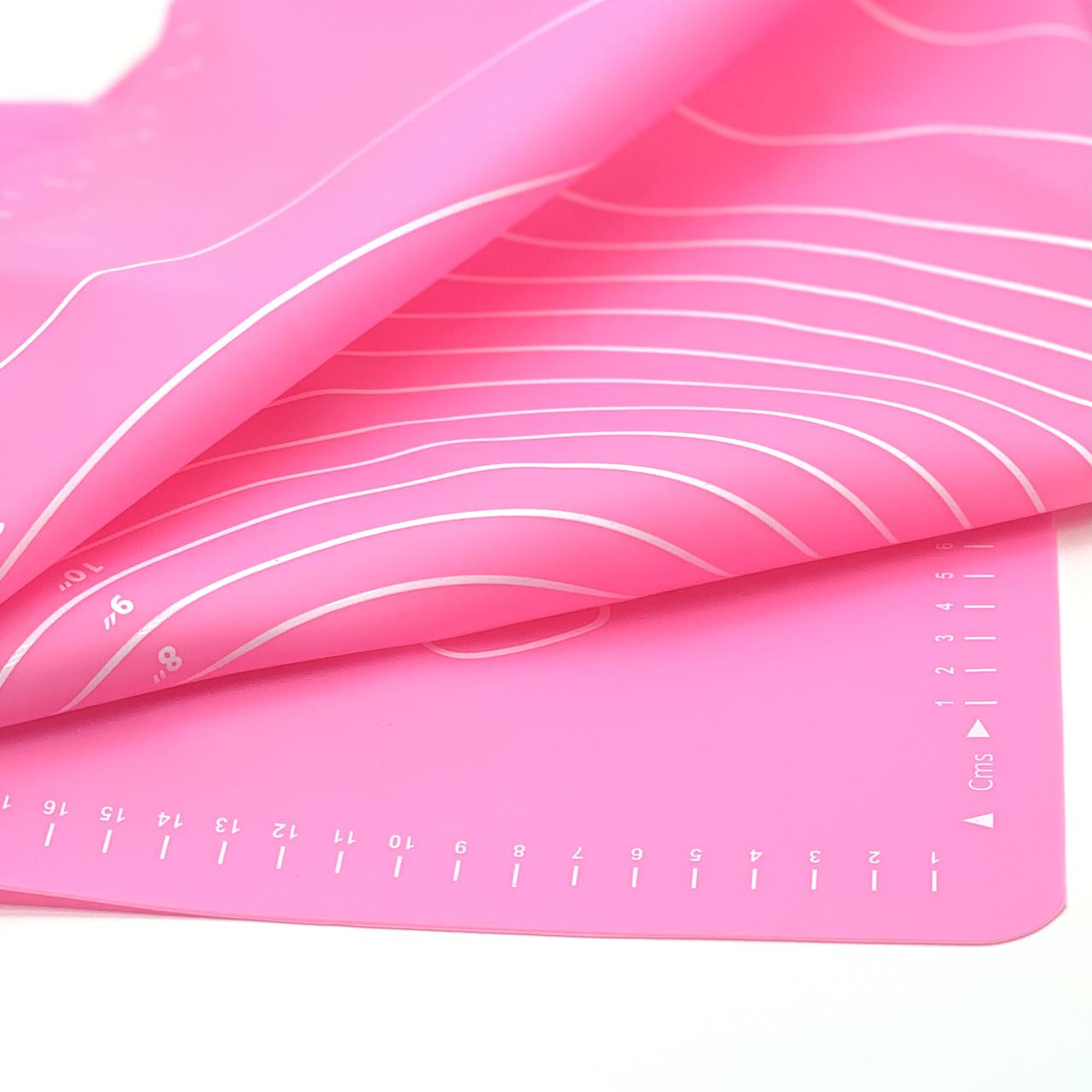 Силиконовый коврик для выпечки антипригарный, большой 62*42 / Силіконовий килимок для випічки ( ярко розовый)