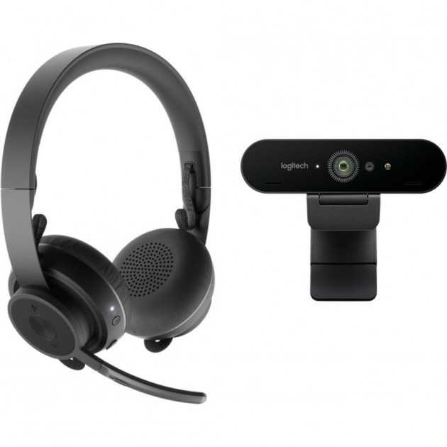 Навушники Logitech Pro Personal Video Collaboration Kit (Zone Wireless + BRIO) (991-000309) (код 114589)