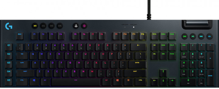 Клавіатура Key Logitech G815 Gaming Mechanical GL Linear RGB USB Black (920-009007) (код 114593)
