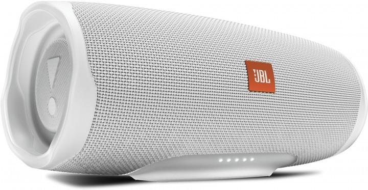 Акустична система портативна 1.0 JBL Charge 4, безпровідна, водозахищена, Bluetooth, White Steel