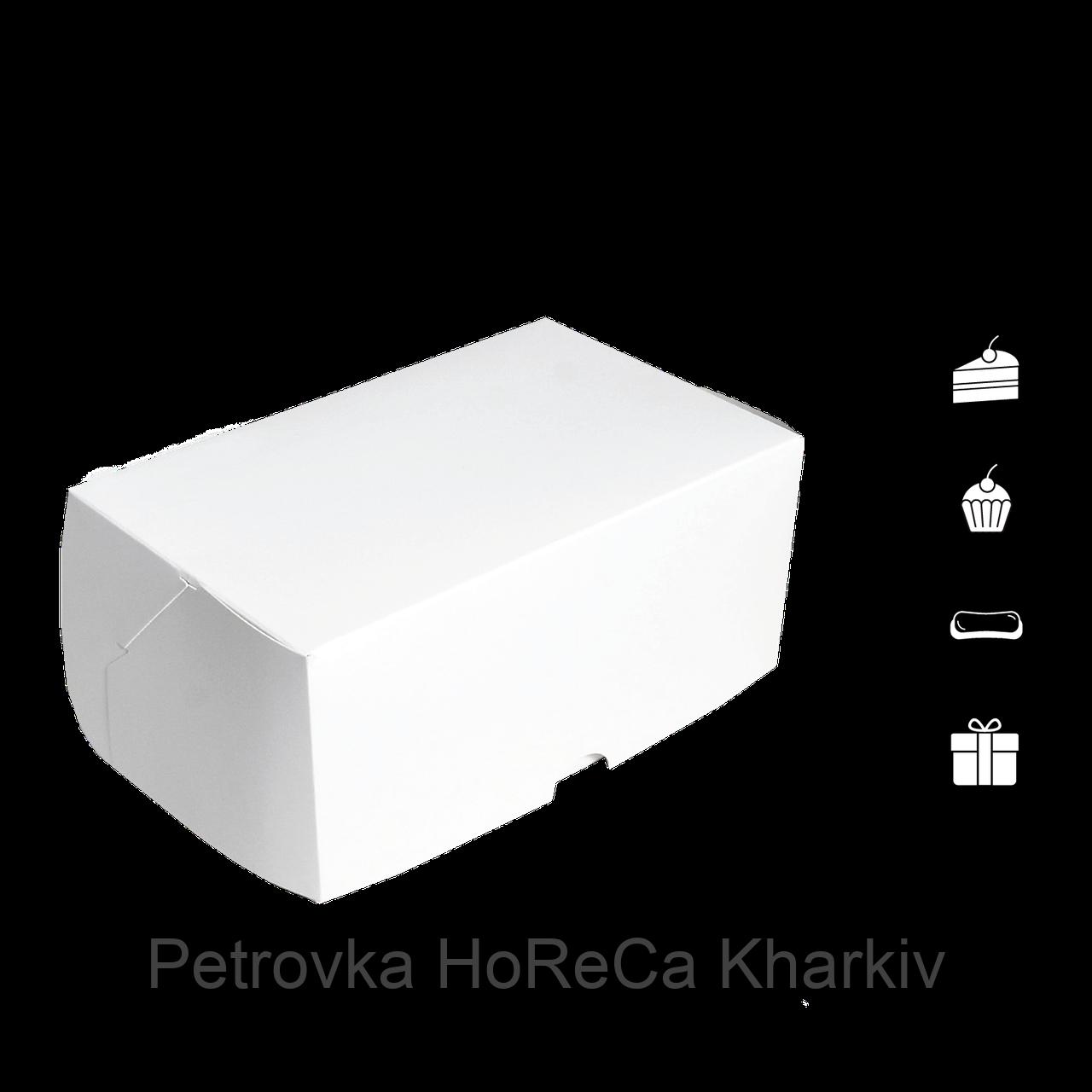 """Коробка для торта 1 кусок """"КТ 0100"""" Белая, 100*160*80мм, (уп/25шт)"""