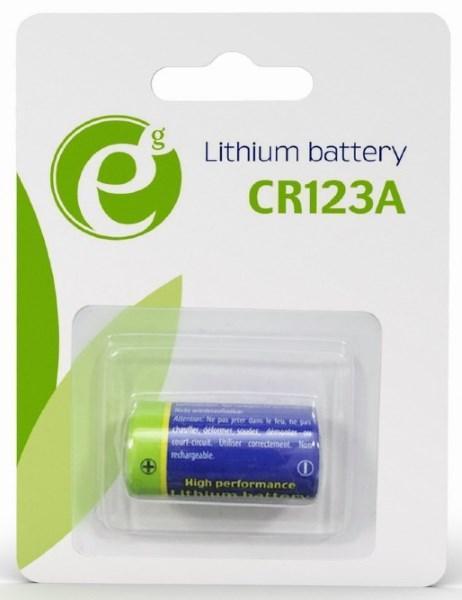 Батарейка CR123  EnerGenie EG-BA-CR123-01 Lithium BL (1шт) (код 110282)