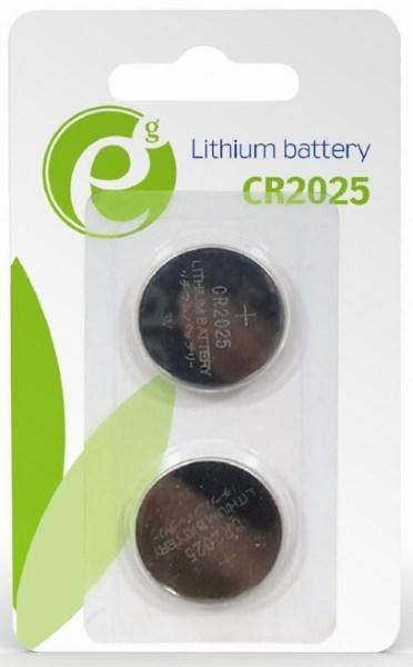 Батарейка CR2025  EnerGenie EG-BA-CR2025-01 Lithium BL (2 шт) (код 110286)