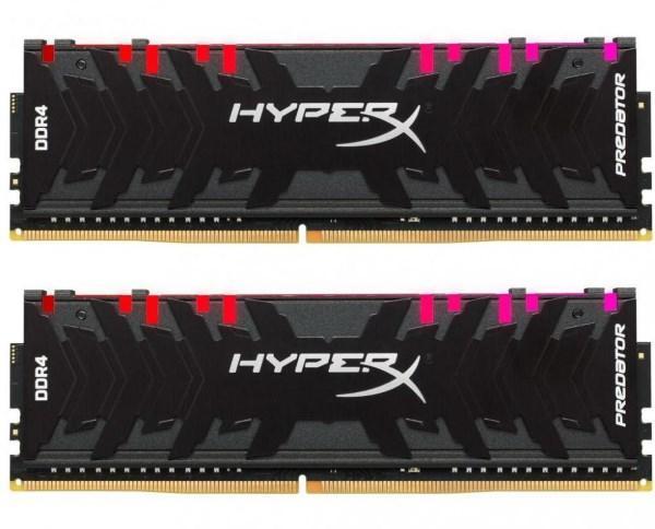 Пам'ять DDR4 RAM 32GB Kingston 3200MHz PC4-25600 (Kit of 2x16GB) HyperX Predator RGB (код 104851)