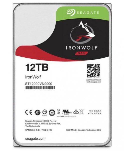 "Жорсткий диск HDD 12TB Seagate IronWolf  3.5"", 7200rpm, SATA 3, 256MB  (ST12000VN0008) (код 110329)"