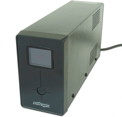 Блок безперебійного живлення EnerGenie EG-UPS-032, LCD дисплей, USB порт, 850VA, чорний колір (код 69236)