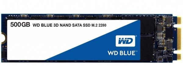 Твердотільний диск SSD M.2 500GB Western Digital Blue series   SATA, TLC, Sequential Read/Write 560/530 MB/sec