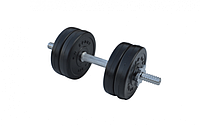 Легкая разборная Композитная гантель для фитнеса в дома на 6,5 кг с хром грифом RN-Sport