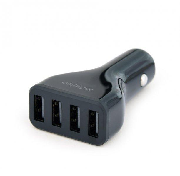 Автомобільний зарядний пристрій EnerGenie EG-U4C4A-CAR-01 USB 4.8A чотирьохпортовий (код 115239)