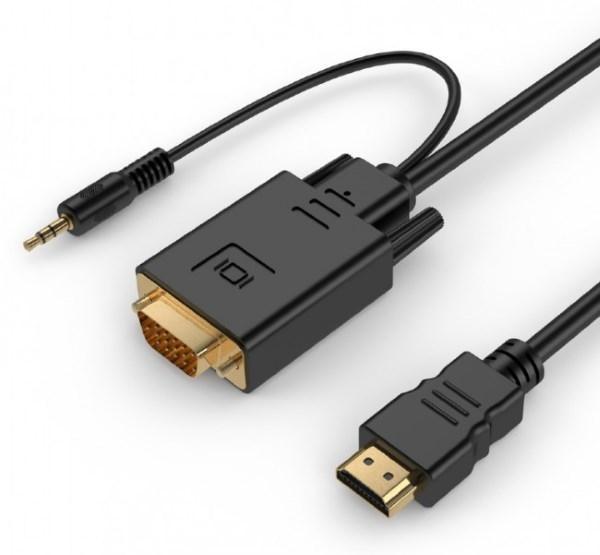 Адаптер Адаптер Cablexpert A-HDMI-VGA-03-10 перетворювач з HDMI в VGA і стерео-аудіо (код 96415)