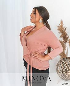 Женская кофточка с люрексом  Большие размеры 48, 50, 52, 54