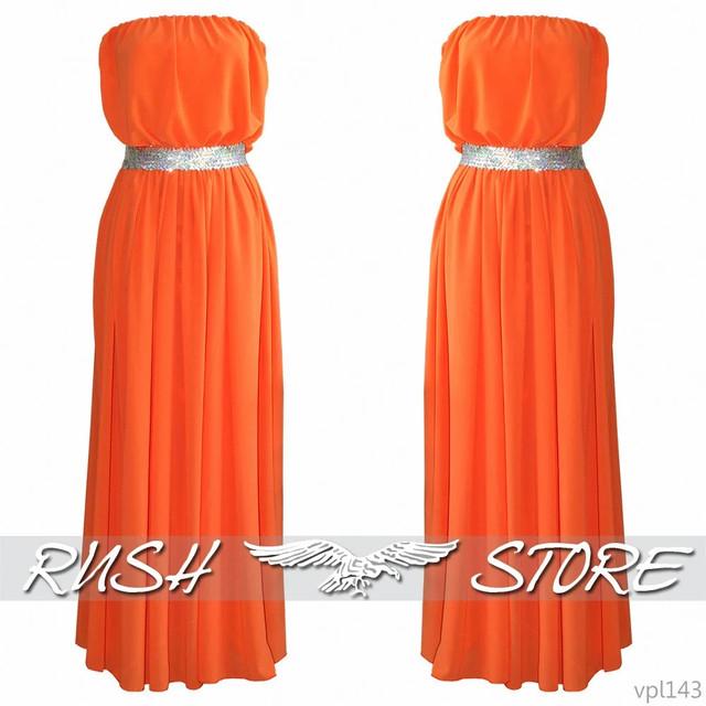 шифоновое женское платье с блестящим поясом
