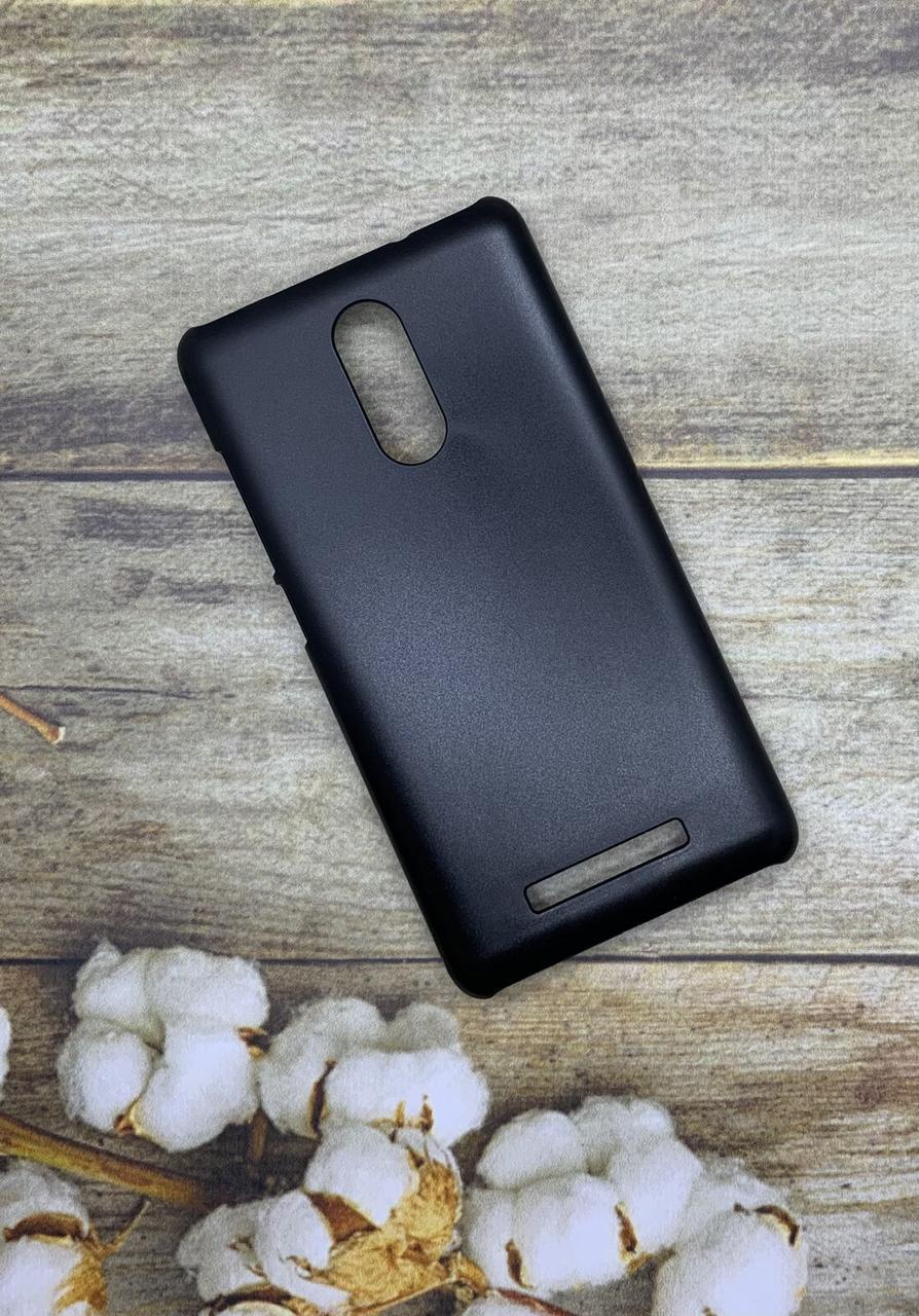 Чехол на Xiaomi Redmi Note 3 пластиковый черный бампер