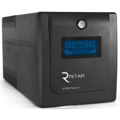 Блок безперебійного живлення Ritar  RTP1200 (720W) Proxima-D, LCD, AVR, 3st, 4x UNIVERSAL socket, 2x12V7Ah,