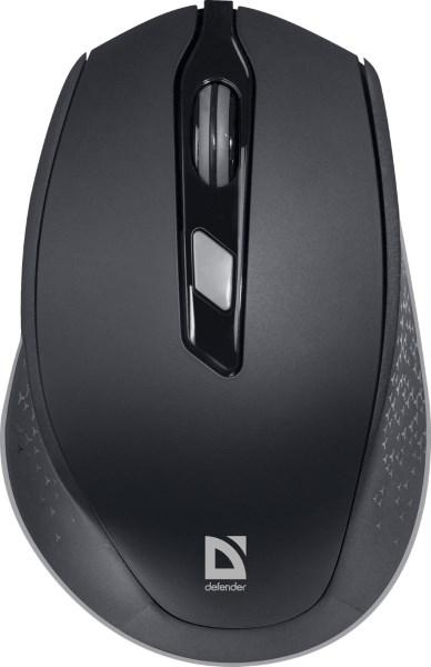 Миша DEFENDER Genesis MM-785 black, 6 b, 1200-2400 dpi (код 108074)