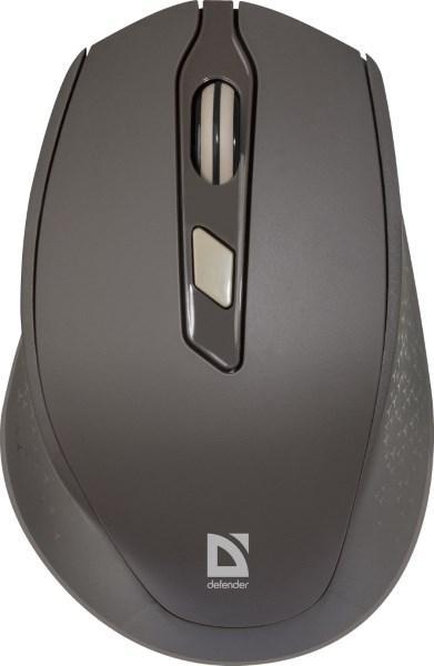 Миша DEFENDER Genesis MM-785 brown, 6 buttons, 2400 dpi (код 108076)