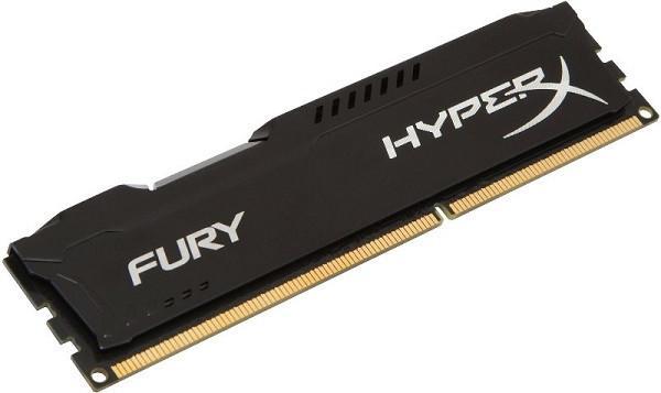 Пам'ять DDR3 RAM 4GB Kingston 1866MHz PC3-14900 HyperX  Fury Black  (код 72154)