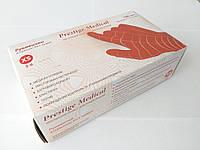 """Перчатки нитриловые багровые """"Престиж Медикал"""", размер XS, 100 шт/50пар"""