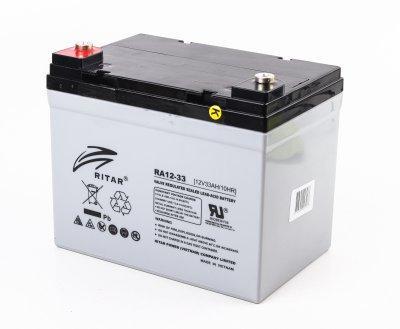 Акумуляторна батарея RITAR AGM RA12-33, Gray Case, 12V 33Ah (195 x 130 x155 (168)) (код 114510)