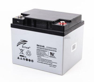 Акумуляторна батарея RITAR AGM RA12-40, Gray Case, 12V 40Ah (198 x166 x 169) (код 114511)
