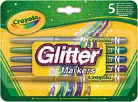 Crayola Фломастери з блискітками 5шт (58-8645) (код 99204)