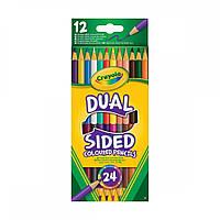 Crayola Кольорові двобічні олівці 12шт.(68-6100) (код 99206)