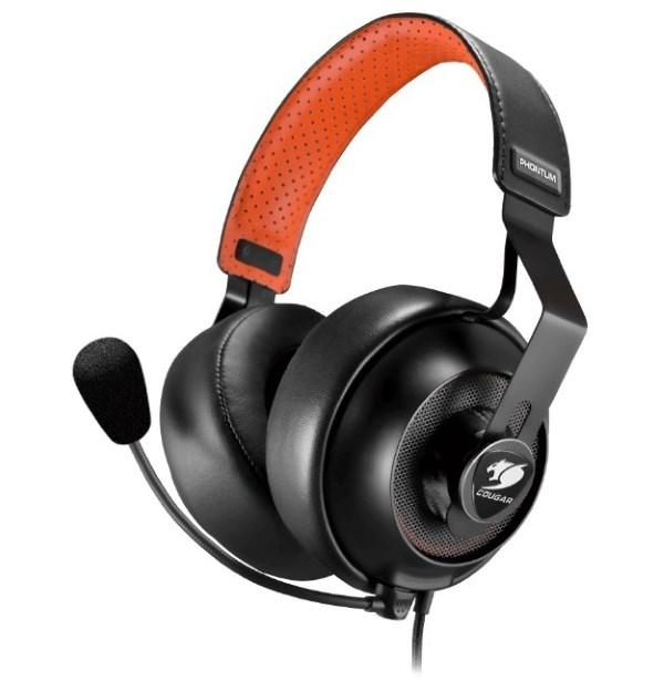 HeadPhone+Mic Cougar Phontum S Black-Orange 2 комплекти знімних амбушур, мікрофон з шумозаглушенням (код