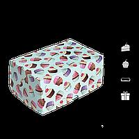 "Коробка для торта 3 еклер ""КТ 0213"" Кекси, 177*118*78мм, (уп/25шт), фото 1"