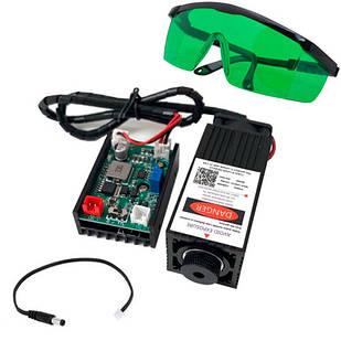 Мощный лазер для резки гравировки 5.5Вт 445нм TTL и защит. очки