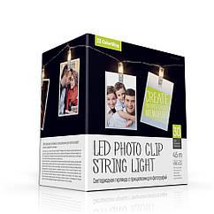 Світлодіодна гірлянда ColorWay з защіпками для фото 30LED/4.5 м (3хАА не входять в комплект) (код 101760)