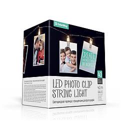 Світлодіодна гірлянда ColorWay з защіпками для фото 40LED/4.2 м (3хАА не входять в комплект) (код 101761)