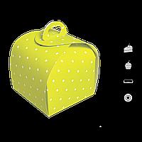 "Коробка для торта КУПОЛЬНА ""КТ 0415"", Зелений Горох 110*110*110мм, (уп/25шт), фото 1"