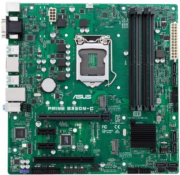 Мат. плата MB Asus PRIME B360M-C (iB360/s1151/4xDDR4 2666MHz/1xPCIe x16/2xPCIe x1/1xPCI/2xM.2