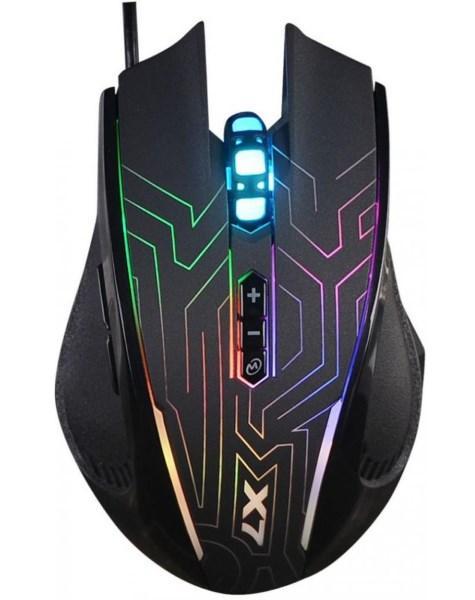 Миша A4 Tech X87 (Black) ігрова X7 Oscar Neon, Optical 2400CPI, USB  (код 100025)
