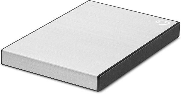 Зовнішній диск HDD External 2.5'' 1TB Seagate Backup Plus Slim  Silver, USB 3.0  (STHN1000401) (код 108146)