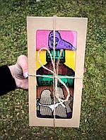 Набор прикольных носков унисекс Женские и мужские носки с принтом Набор носков в подарок Тюлень, Зеленка