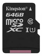 Карта пам'яті MicroSD 64Gb Kingston C10 Canvas Select Plus 100R A1 (код 110177)