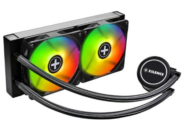 Охолоджувач Cooler for CPU Xilence XC976 Система рідинного охолодження LQ240RGB, 2x120мм (код 111393)