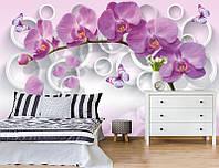 Фотообои Орхидея с бабочками