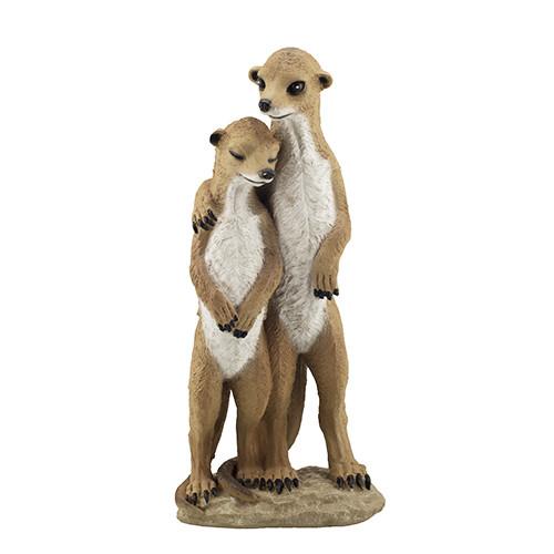 Садовая фигура Decoline Сурикаты влюбленные (полистоун) F0206(P)