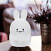 Силиконовая светлодиодная лампа Colorful Silicone Rabbit, фото 2