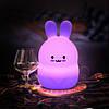 Силиконовая светлодиодная лампа Colorful Silicone Rabbit, фото 3
